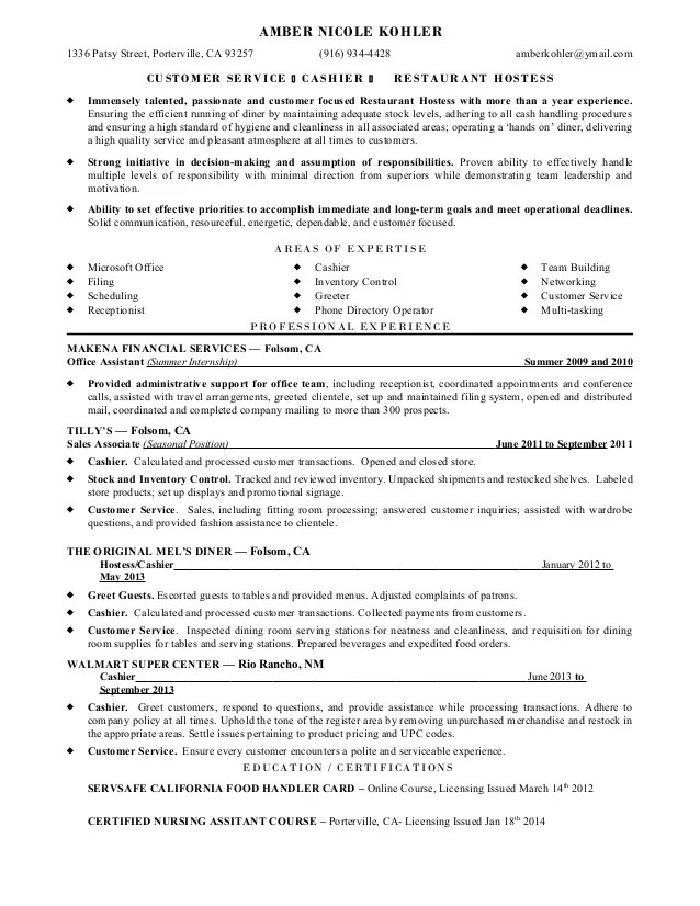 Cashier Responsibility Resume Anuvrat Info INPIEQ Sample Resume For Job  Sample Resume Cashier Wwwisabellelancrayus Stunning Job  Customer Service Cashier Resume