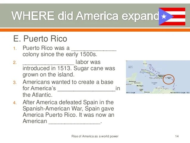 America's rise to world power, 1890 1930