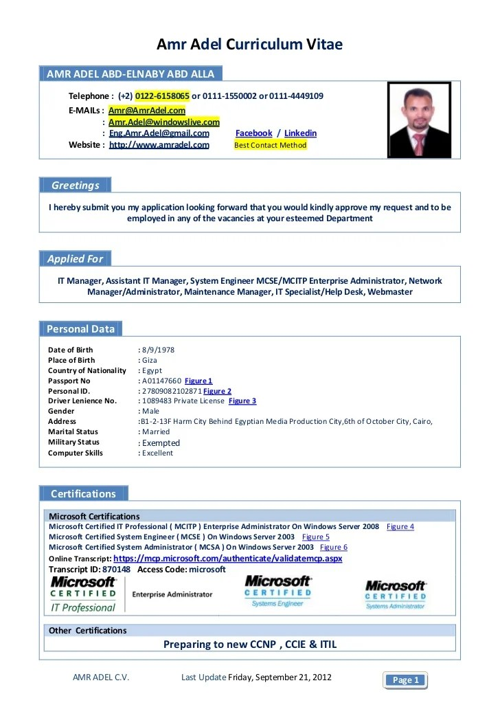 Ccna Fresher Resume Format Business Plan Review