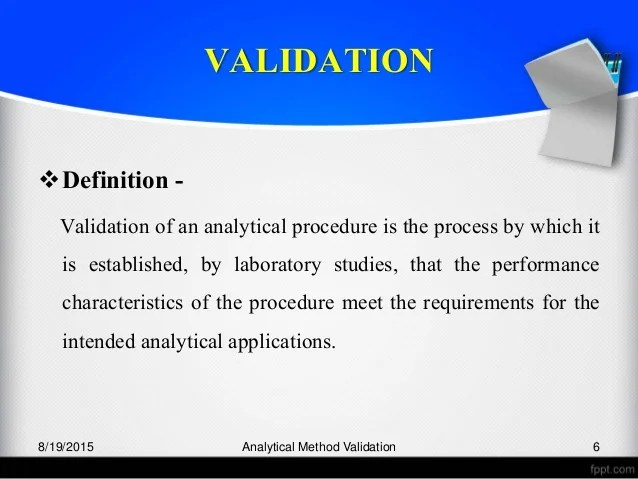 The Business Analysis Process 8 Steps To Being An Analytical Method Validation By Manoj Ingalebest Ppts