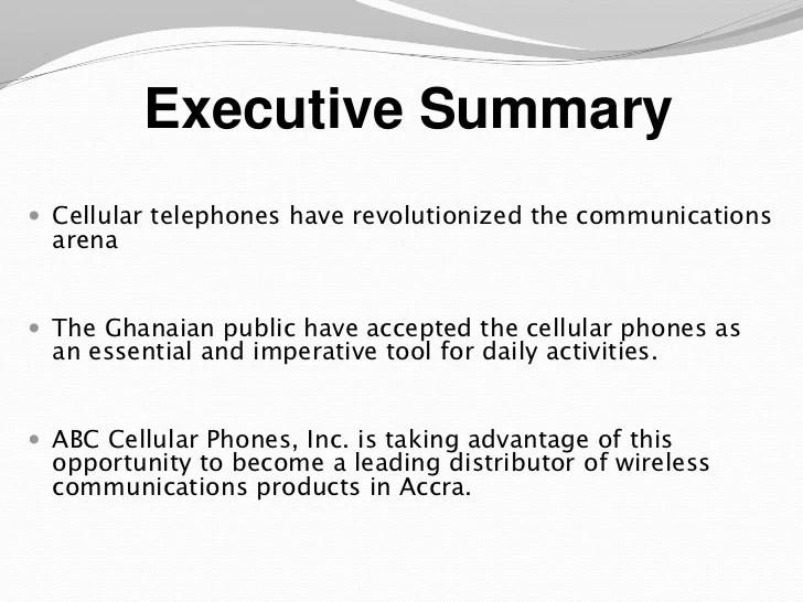 executive summary presentation example - Romeolandinez - exec summary template
