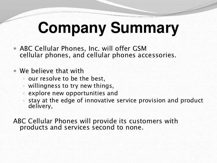 Business Plan Sample For A New Product | Business Letter Offering ...