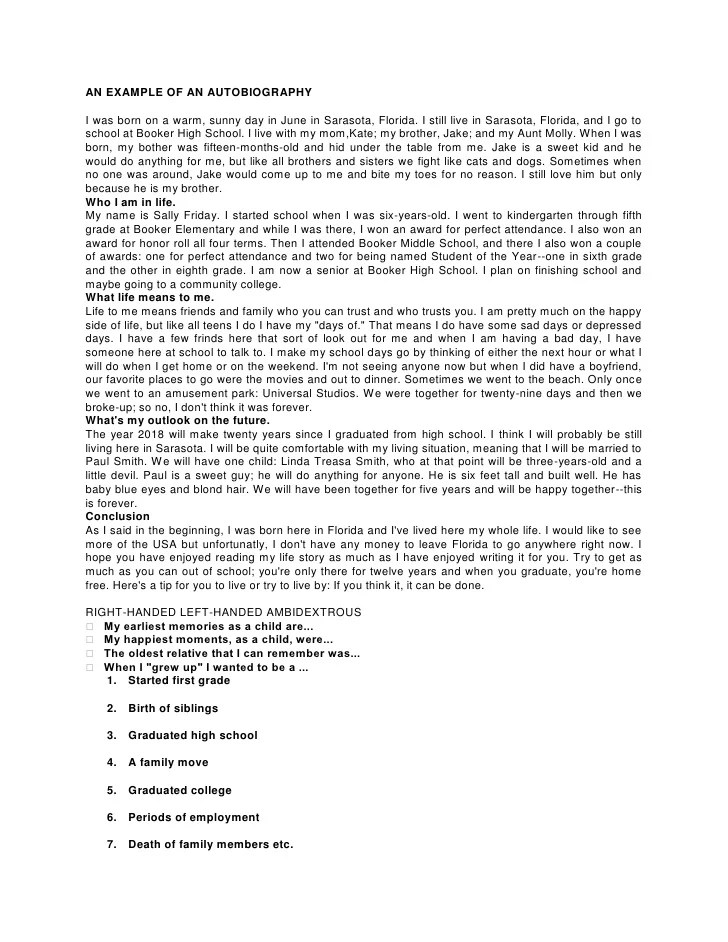 cover letter life story essay example life story college essay autobiography essay examples high school research - Examples Of An Autobiography Essay
