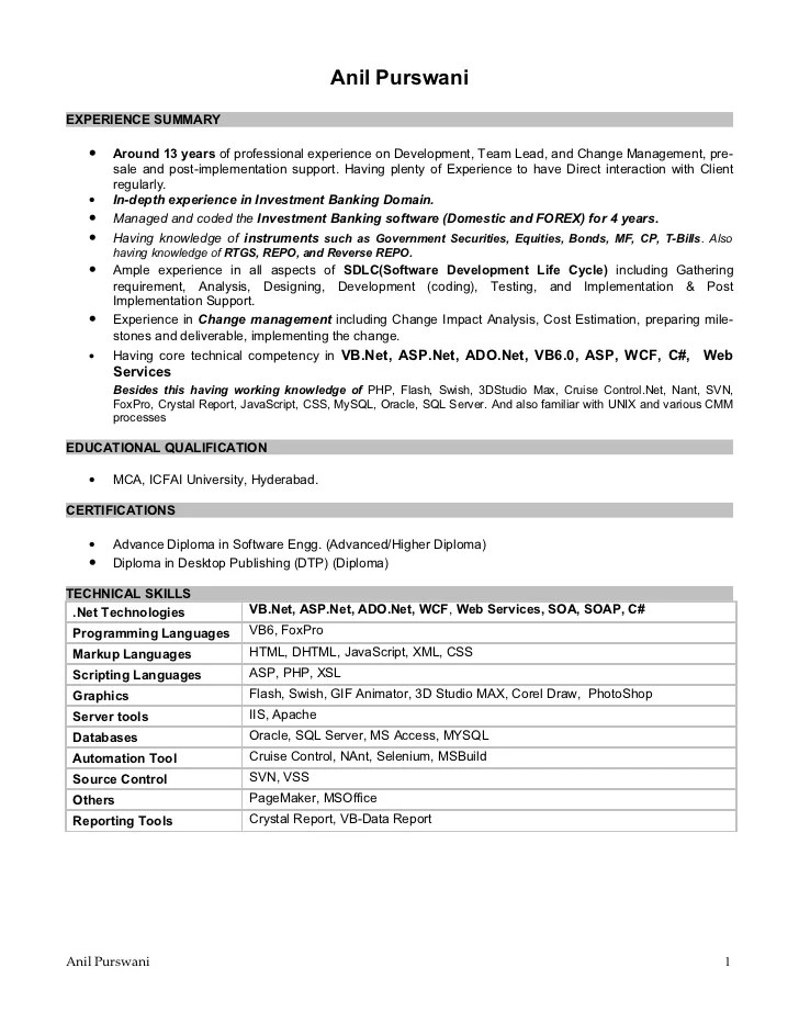 salesforce qa resume