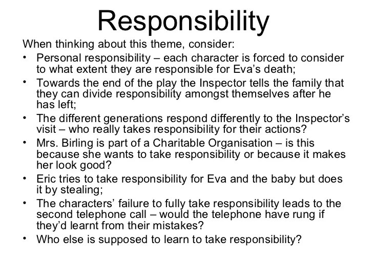 essay on personal responsibility