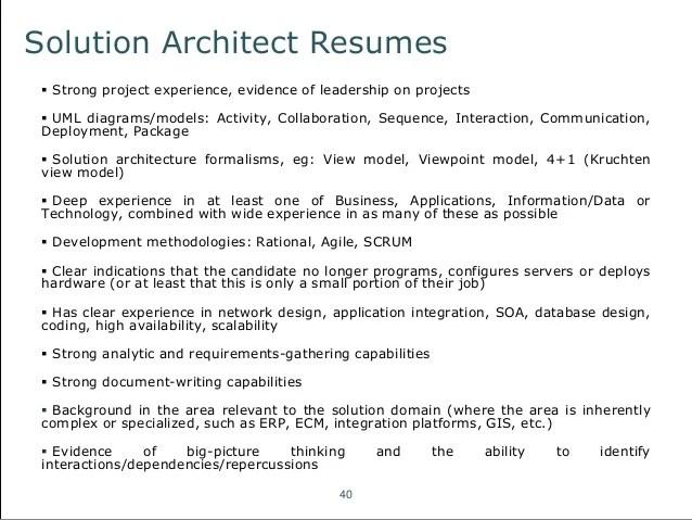 Enterprise Architect Resumes – Solution Architect Resume