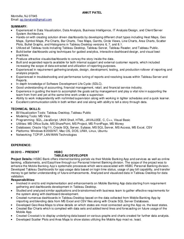 alteryx developer resume sample