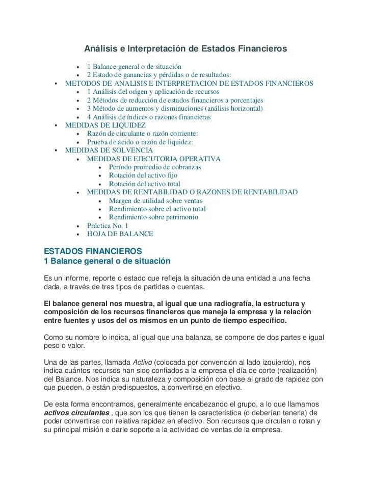 Balance General Interpretacion Ejemplo – Que Es Una Cover Letter