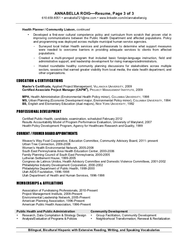 resume language for food service
