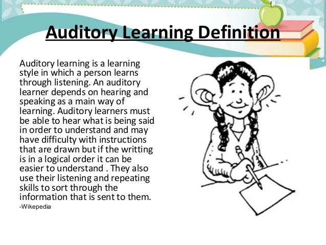 An overview of visual, auditory, and kinesthetic learners