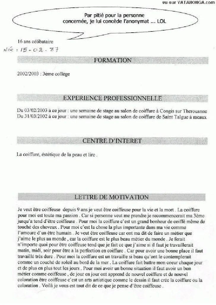 cv lettre de motivation coiffeuse