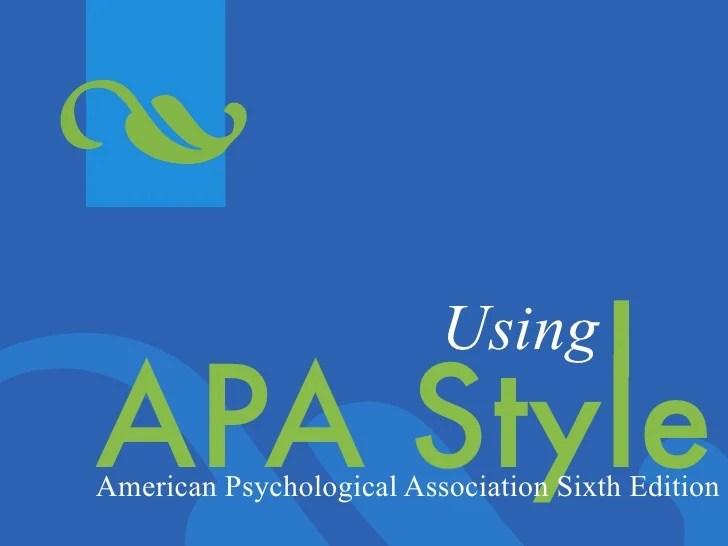 powerpoint apa style