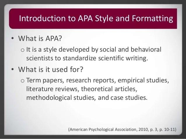 apa style scientific paper