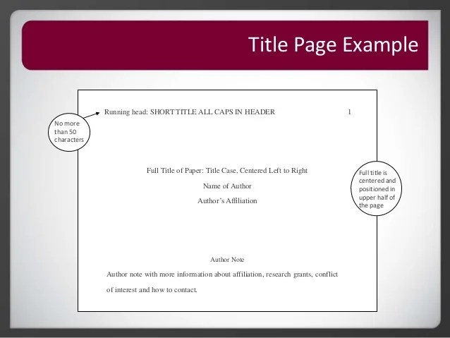 how do you make a cover page in apa format - Intoanysearch - How To Make A Cover Page For A Resume