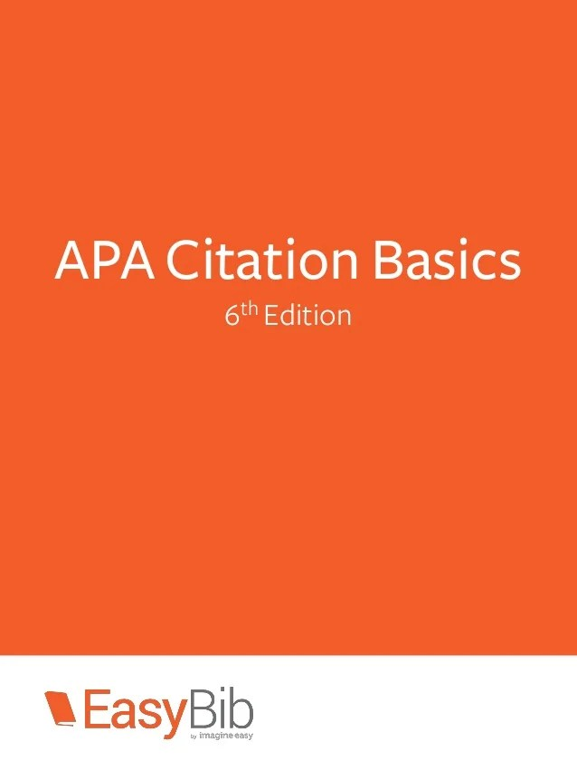 apa reference 6th edition