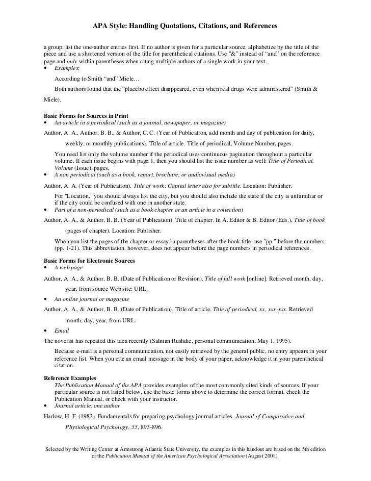 Reference Yourself Apa Resume Pdf Download