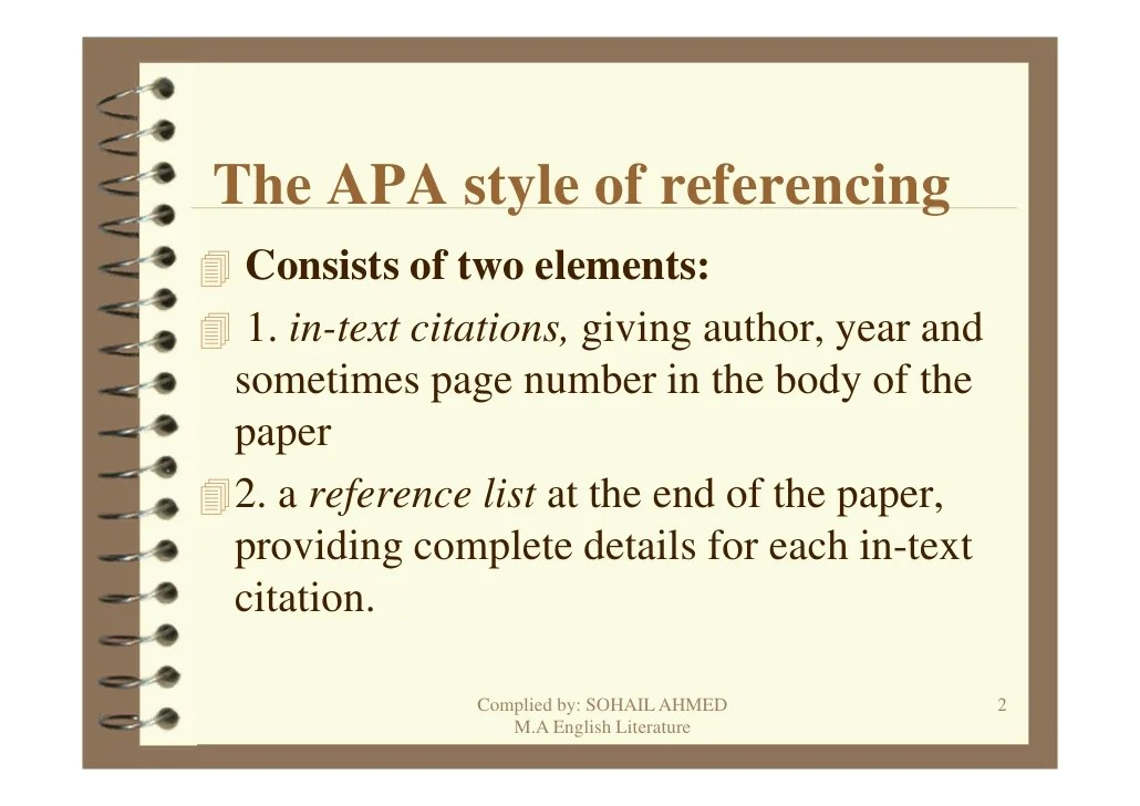 Apa Format Styles Are A Snap With Reference Point Software Apa Style Referencing By Sohail Ahmed