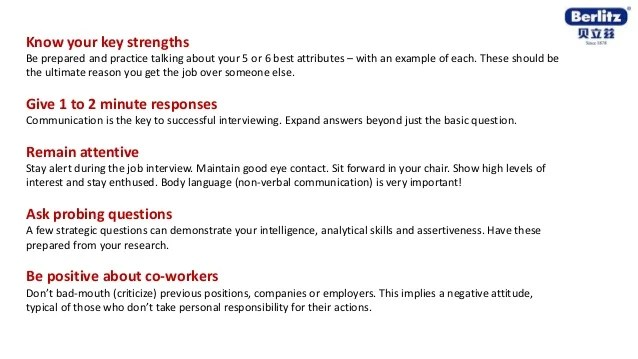 keys to successful interview - Leonescapers