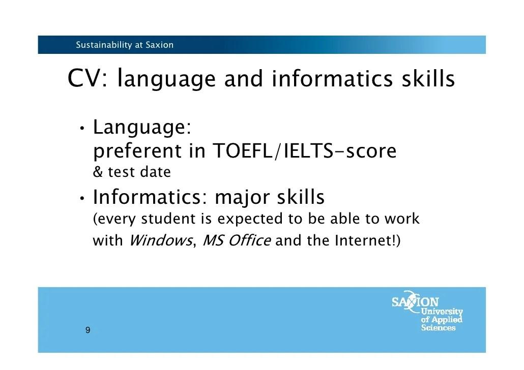 informatics skills cv