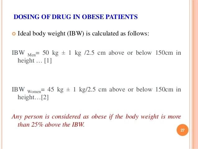 ideal weight formula