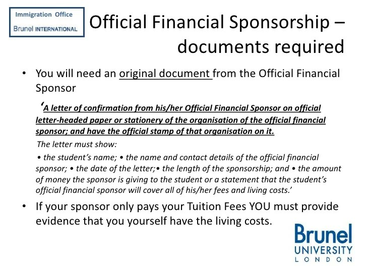 Sample Sponsor Letter For F 1 Visa Applicants Applying For A Tier 4 Student Visa