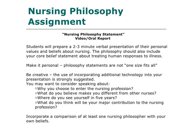nursing values and beliefs statement