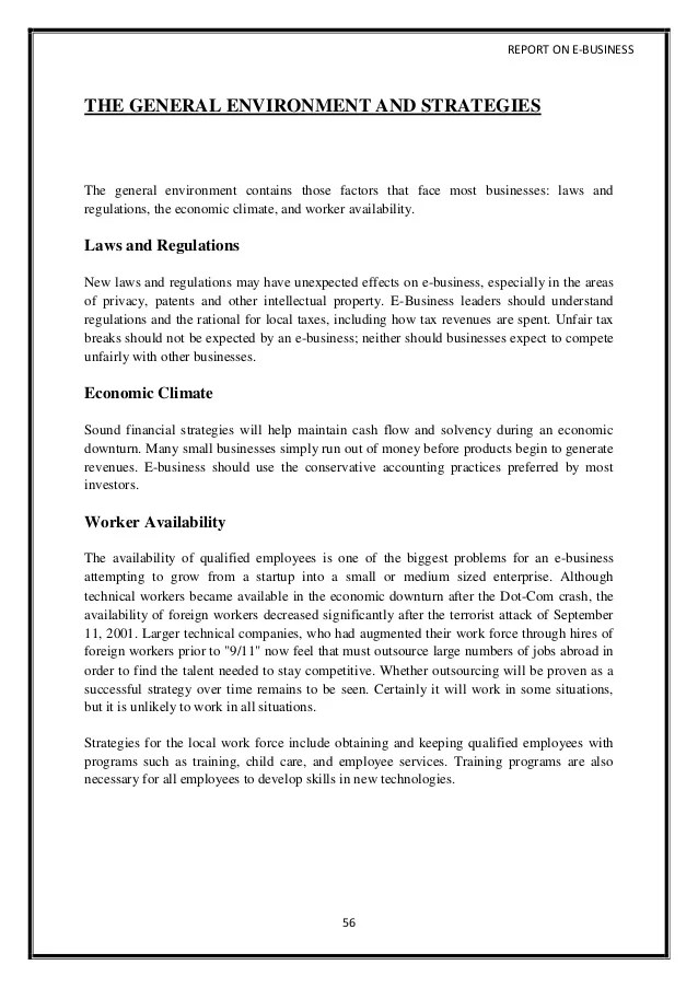 business project report sample - Josemulinohouse - sample business report