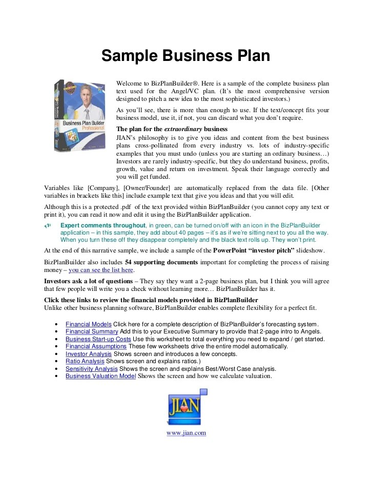Business plan executive summary example startup