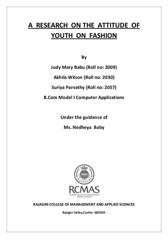 project report title page format - Apmayssconstruction
