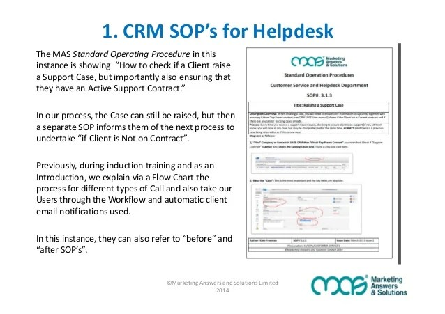 standard operating procedure template for customer service - Romeo
