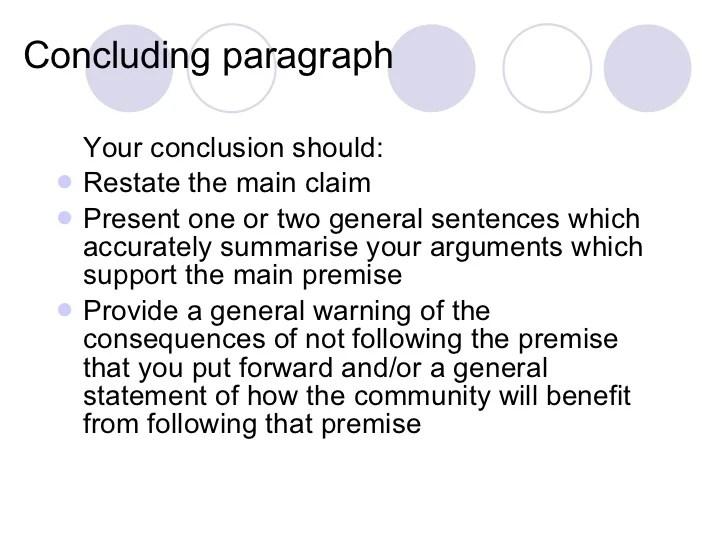 argumentative essay structure example