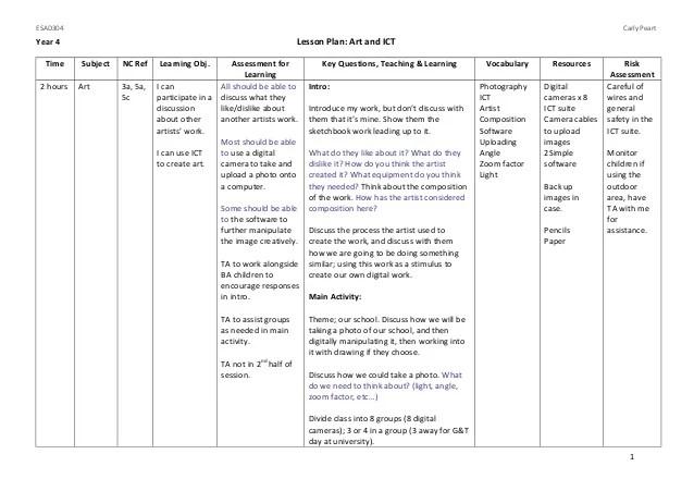 art lesson plan template - Onwebioinnovate - art lesson plans template