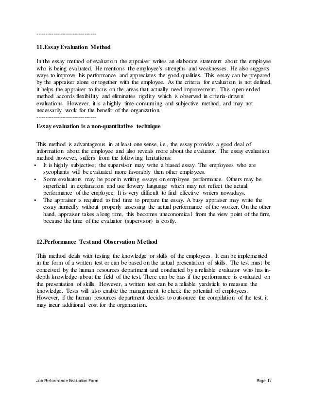 evaluation essay examples - Yelomdigitalsite