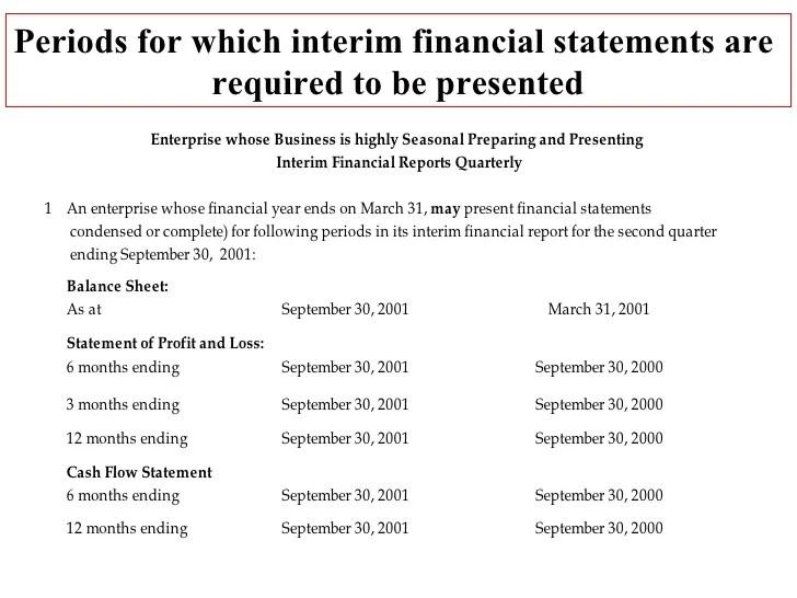 sample interim financial statements - Josemulinohouse - sample financial reports