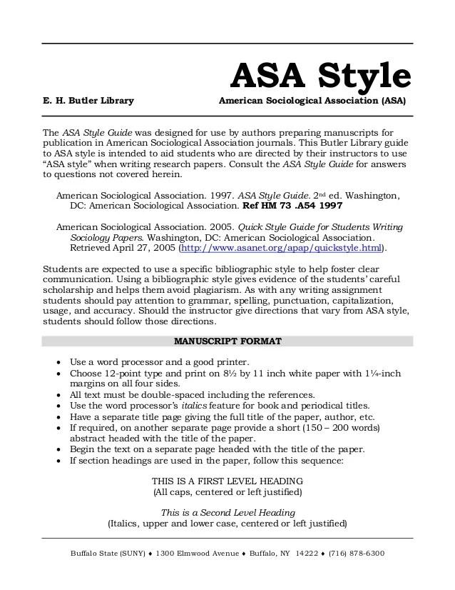 asa format example essay