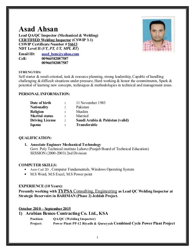 qc inspection resume resume objective for quality inspector 2