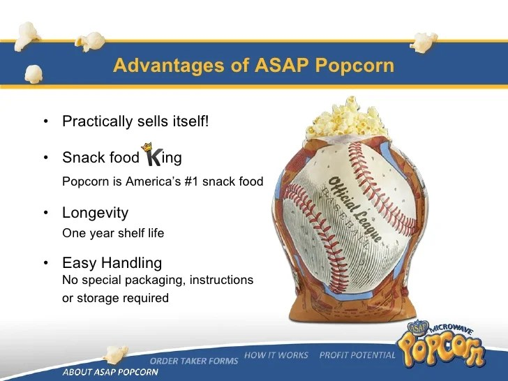 Asap Popcorn Fundraising Program