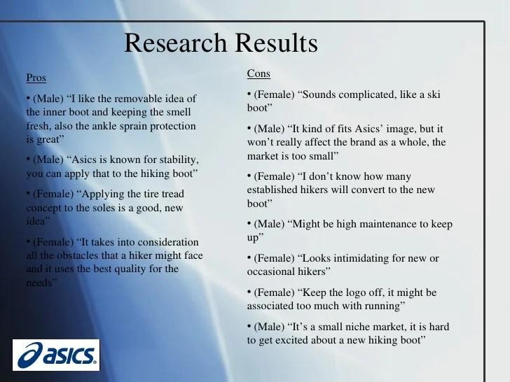 Asics Final Presentation