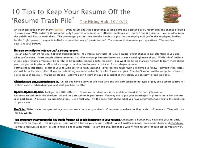 Resume Use Past Tense For Current Position