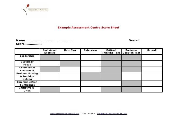 sample interview assessment sheet - Onwebioinnovate - sample interview evaluation