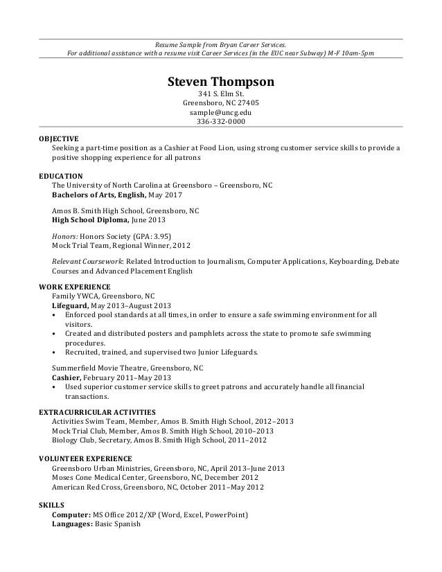 Resume Sample High School Diploma | Sample Customer Service Resume