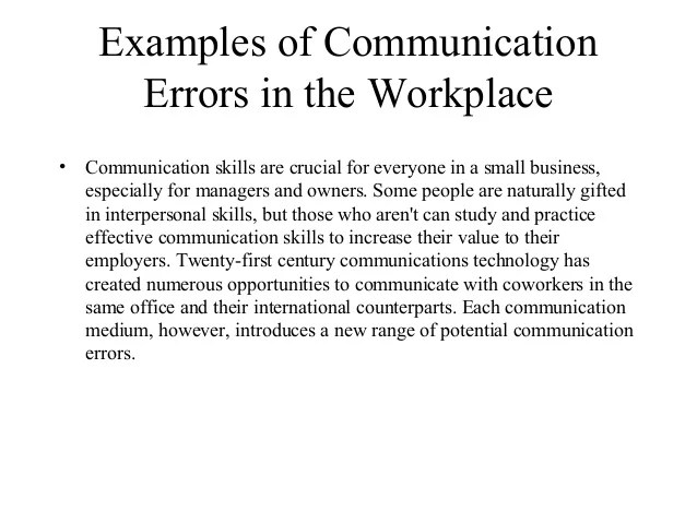 Image For Examples Of Good Communication In The Workplace