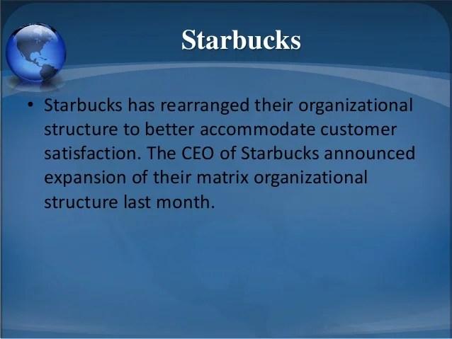 starbucks organizational structure