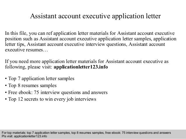 assistant account executive cover letter - Intoanysearch - executive cover letter