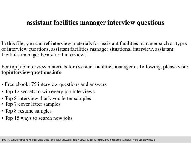 facilities manager resume sample - Minimfagency
