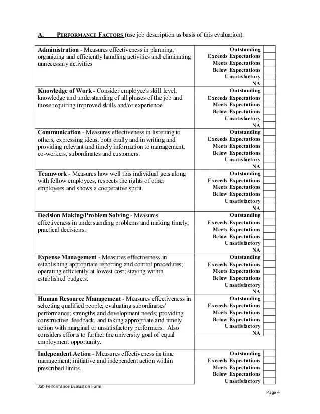 hotel employee performance evaluation form - Canasbergdorfbib