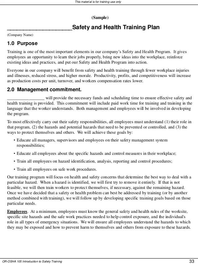 safety program template free - Josemulinohouse - sample safety program