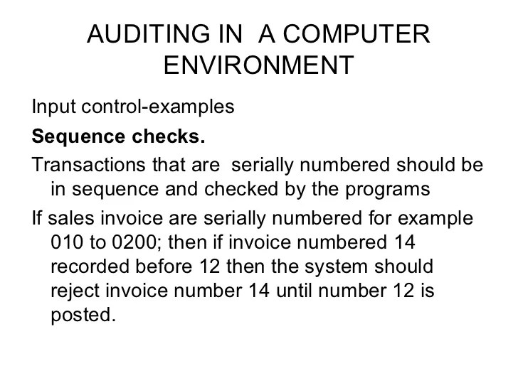 Sequentially Numbered Invoice Template For Ms Word Auditing In A Computer Environment Copy