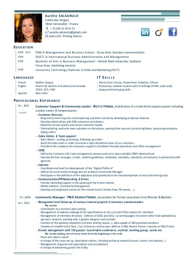 introduction cv francais