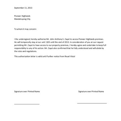 Authorization letter maps map cv text biography template letter authorization letter spiritdancerdesigns Gallery